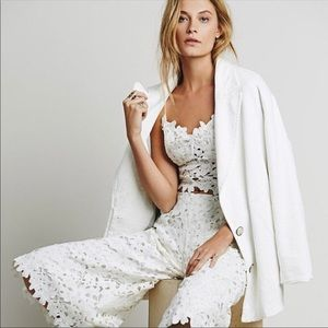 Lace Dot X Free people lace wide leg pants and top